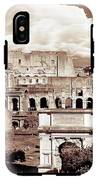 Colosseum From Roman Forums  IPhone X Tough Case