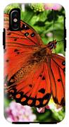 Orange Butterfly IPhone X Tough Case