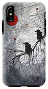 Original Abstract Surreal Raven Red Blood Moon Painting The Overseers By Madart IPhone X Tough Case