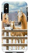 Palomino Quarter Horses In Snow IPhone X Tough Case