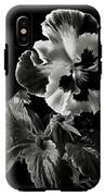 Pansy In Black And White IPhone X Tough Case