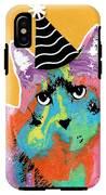 Party Cat- Art By Linda Woods IPhone X Tough Case
