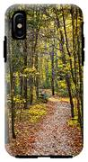 Path In Fall Forest IPhone X Tough Case