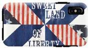Patriotic Quilt 3 IPhone X Tough Case