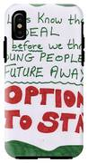People's Vote Option To Stay Young People Need A Future IPhone X Tough Case