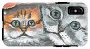 Pet Portraits-two Kitties IPhone X Tough Case