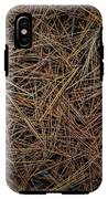 Pine Needles On Forest Floor IPhone X Tough Case