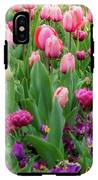 Pink And Purple Tulips At The Spring Floriade Festival IPhone X Tough Case