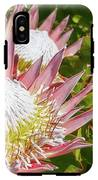 Pink King Protea Flowers IPhone X Tough Case