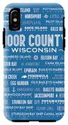 Places Of Door County On Blue IPhone X Tough Case