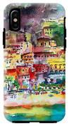 Amalfi Coast Positano Summer Fun Watercolor Painting IPhone X Tough Case