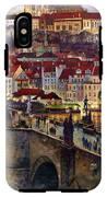 Prague Charles Bridge With The Prague Castle IPhone X Tough Case