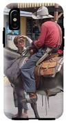 Prospector Re-enactor With Fan Allen Street Tombstone Arizona 200 IPhone X Tough Case