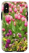 Purple And Pink Tulips In Canberra In Spring IPhone X Tough Case