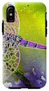 Purple Dragonfly IPhone X Tough Case