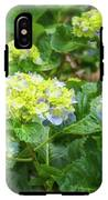 Purplea And Yellow Hydrangea Flowers IPhone X Tough Case