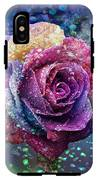 Rainbow Rose In The Rain IPhone X Tough Case