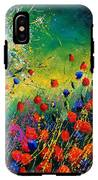 Red And Blue Poppies  IPhone X Tough Case