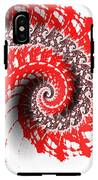 Red And White Fractal IPhone X Tough Case
