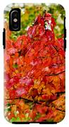 Red Fall Leaves IPhone X Tough Case