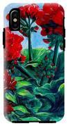 Red Geraniums IPhone X Tough Case