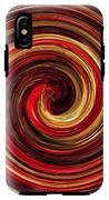 Have A Closer Look. Red-golden Spiral Art IPhone X Tough Case