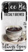 Retro Coffee Shop 2 IPhone X Tough Case