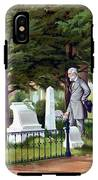 Robert E. Lee Visits Stonewall Jackson's Grave IPhone X Tough Case
