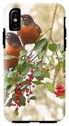 Robins In Holly IPhone X Tough Case