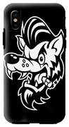 Rockabilly Wolf Head IPhone X Tough Case