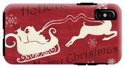 Santa And Reindeer Sleigh IPhone X Tough Case