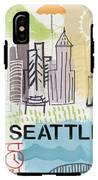 Seattle Cityscape- Art By Linda Woods IPhone X Tough Case