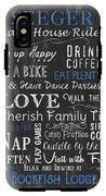 Seeger Lake House Rules IPhone X Tough Case