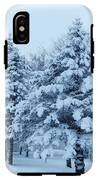 Snow Flocked Pines IPhone X Tough Case