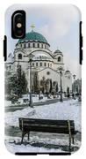 Snowy St. Sava Temple In Belgrade IPhone X Tough Case