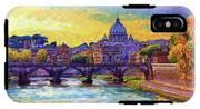 St Angelo Bridge Ponte St Angelo Rome IPhone X Tough Case