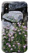 Stone Flowers Pink IPhone X Tough Case