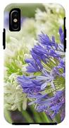 Striking Blue And White Agapanthus Flowers IPhone X Tough Case
