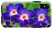 Stunning Blue Flowers IPhone X Tough Case
