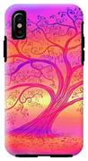 Sunset Tree Cats IPhone X Tough Case