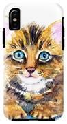 Tabby Kitten Watercolor IPhone X Tough Case