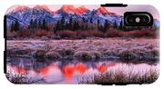 Teton Reflections In The Frosted Willows IPhone X Tough Case