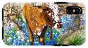 Texas Longhorn In Bluebonnets IPhone X Tough Case