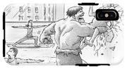 The Hulk Crushes A Man Against A Wall In A Yoga IPhone X Tough Case