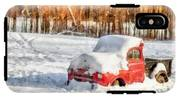 The Old Farm Truck In The Snow IPhone X Tough Case