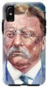 Theodore Roosevelt Watercolor Portrait IPhone X Tough Case