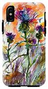 Thistles And Bees Watercolor And Ink IPhone X Tough Case