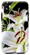 Three White Lilies IPhone X Tough Case
