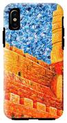 Tower Of David At Night Jerusalem Original Palette Knife Painting IPhone X Tough Case