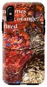 Tree On Fire - Haiku IPhone X Tough Case